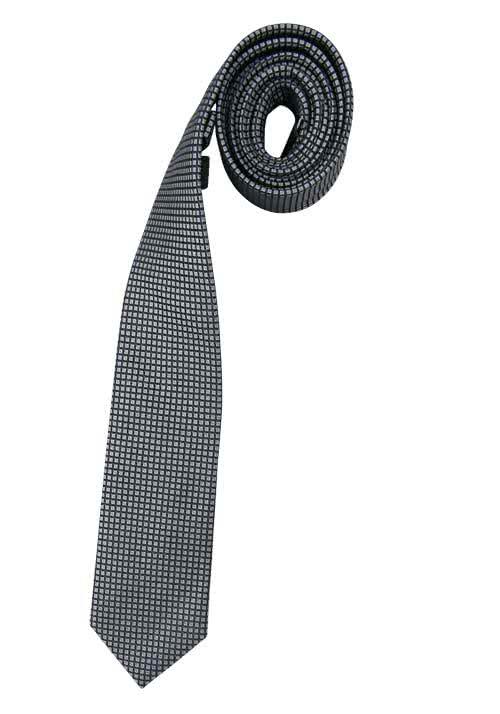 VENTI Seidenkrawatte 6,0 cm breit fleckenabweisend Muster schwarz